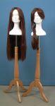 43 base legno treppiede testa polistirolo donna parrucca