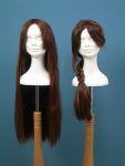 44 testa polistirolo donna parrucca treccia sciolta