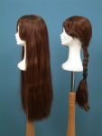 47 base legno parrucca treccia sciolta donna