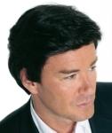 004 PARRUCCA UOMO SINTETICA BOB SUPER - Parrucca per uomo con capelli sintetici